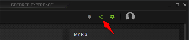 Click on share button to enable ShadowPlay