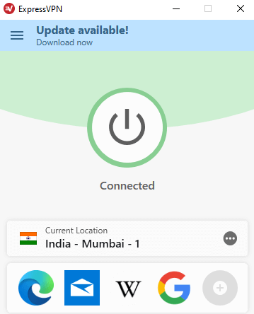 Connect to a Indian server