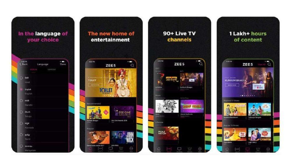 Zee5 app to watch in USA