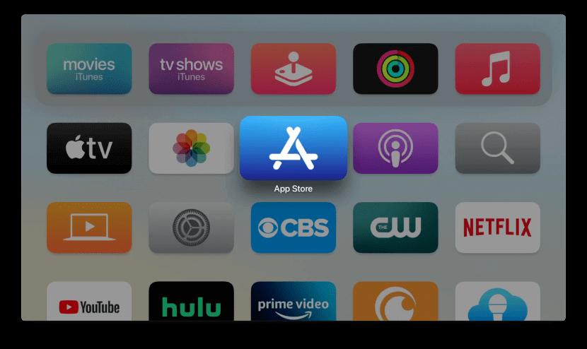 open App store to watch CBS on Apple TV