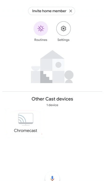 Select your Chromecast device to change chromecast screensaver