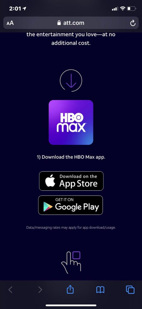Download and install HBO Max app