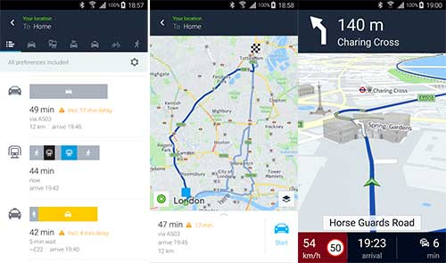 Here WeGo is the best Navigation App for Android