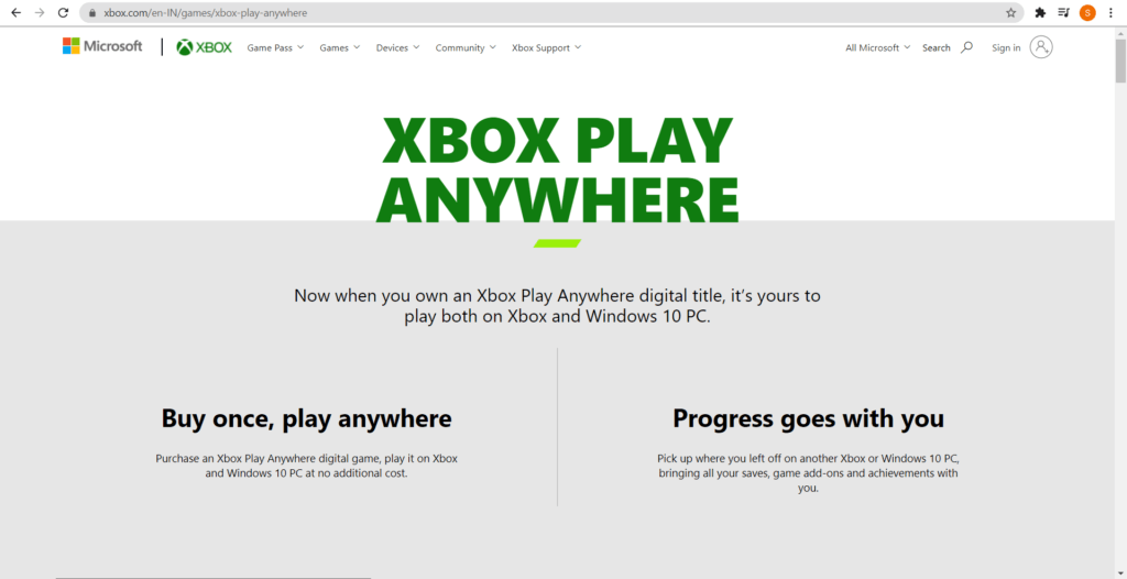 go to Xbox Play Anywhere to play Xbox one games on PC