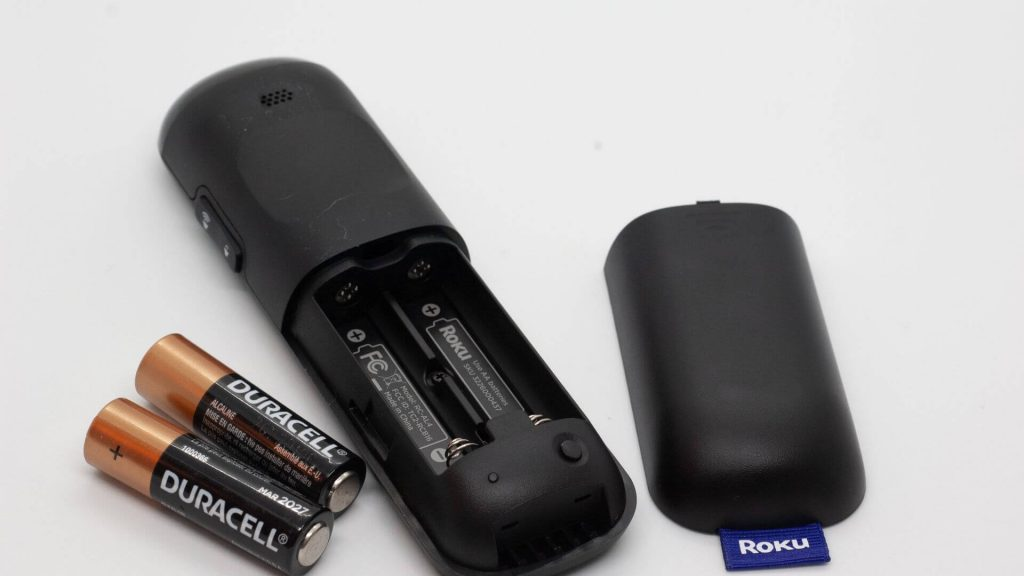 Remove the batteries to reset your Roku remote