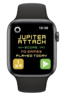 Jupitar Attack is one of the best games for Apple Watch