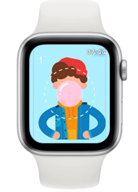 Bubblegum Hero  is one of the best games for Apple Watch
