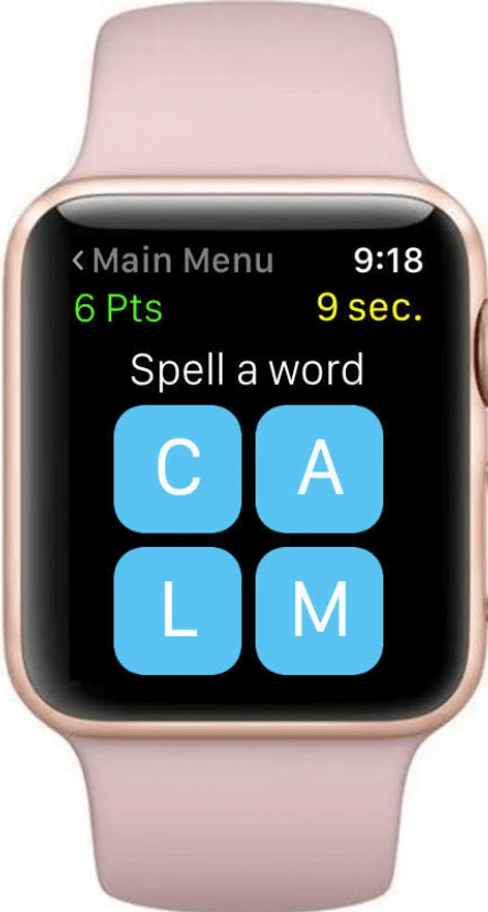 Snappy Word  is one of the best games for Apple Watch