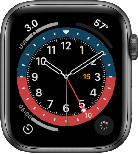 GMT is one of the best watch faces for Apple Watch