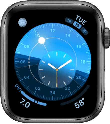 Solar Dial is one of the best watch faces for Apple Watch