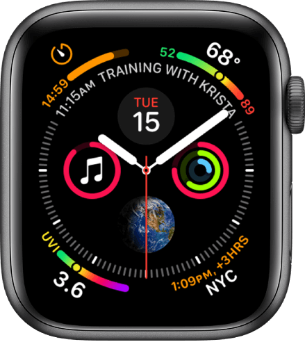 Infograph is one of the best watch faces for Apple Watch