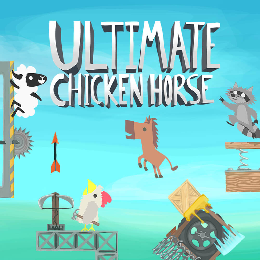 Ultimate Chicken Horse is one of the best split screen Xbox One games