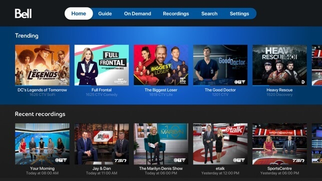 Play and watch the media content from Fibe TV on Apple TV