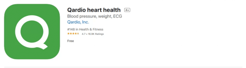 install Qardio heart health app to monitor blood pressure on Apple Watch