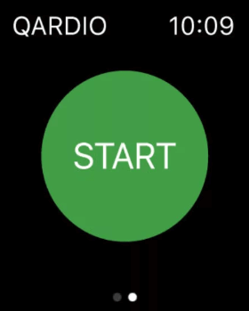 click the start button - How to Monitor Blood Pressure on Apple Watch