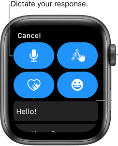 use the microphone to text on apple watch