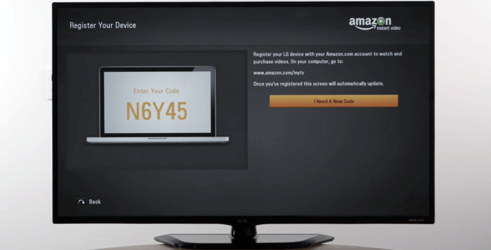 visit the amazon website to enter the activation code
