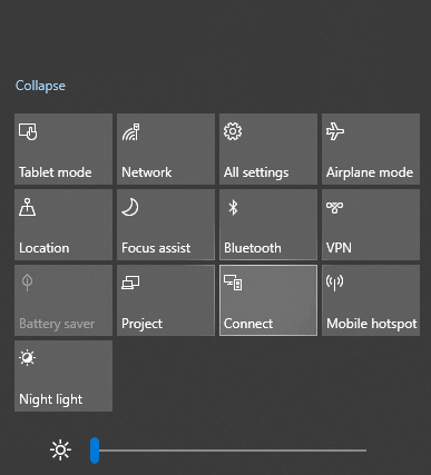 click on connect on the PC