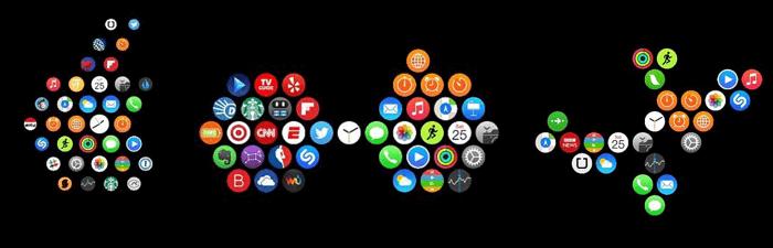 change app layout on apple watch