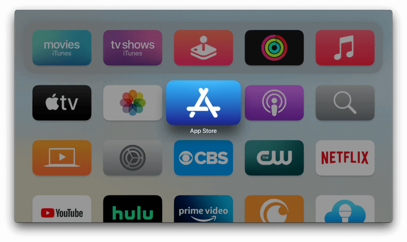 launch app store to watch tubi on apple tv